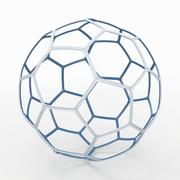 Soccerball draad A blauw 3d model