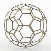 Soccerball wire Un oro 3d model