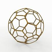 足球线A金色 3d model