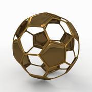 足球线B金色 3d model