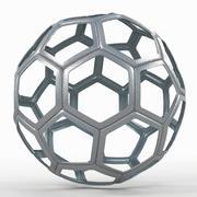 Fil de soccerball C en métal dur 3d model