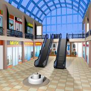 Cartoon Shopping Mall (Interior) 3d model