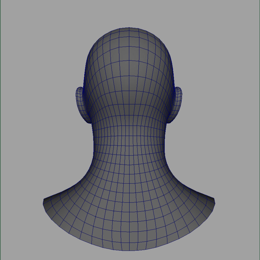 Cabeça masculina royalty-free 3d model - Preview no. 26