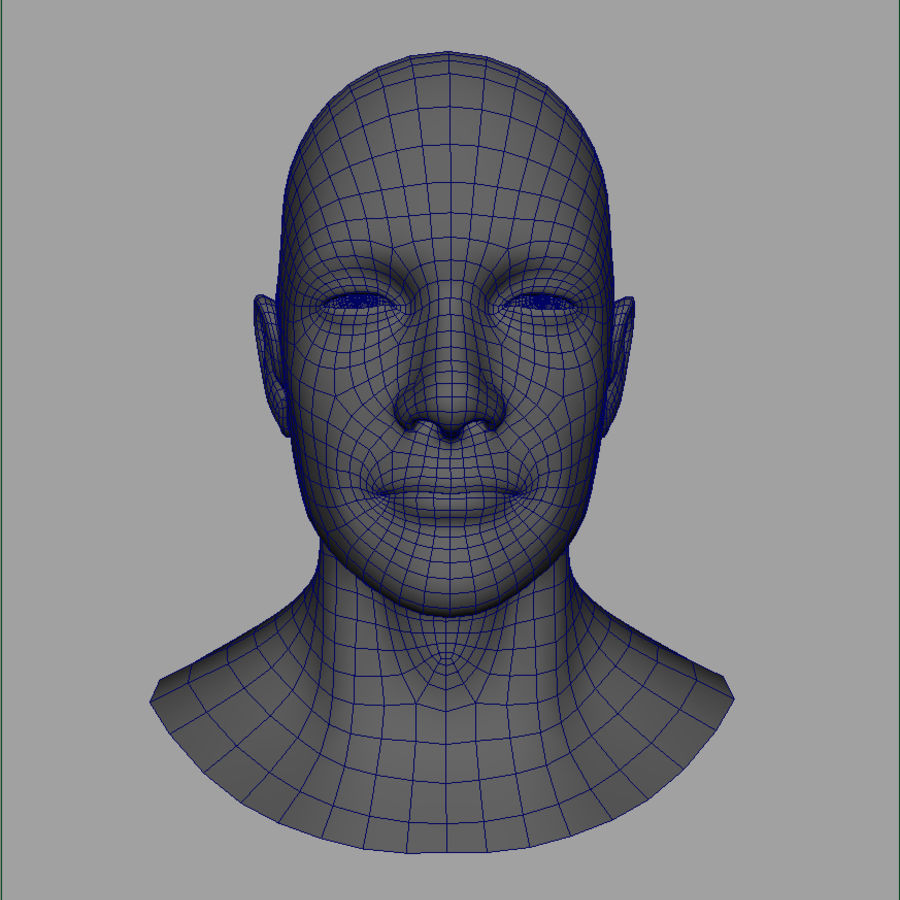 Cabeça masculina royalty-free 3d model - Preview no. 24