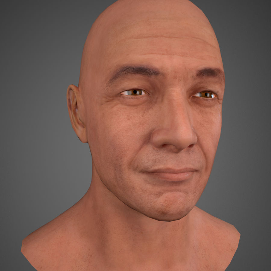 Cabeça masculina royalty-free 3d model - Preview no. 12