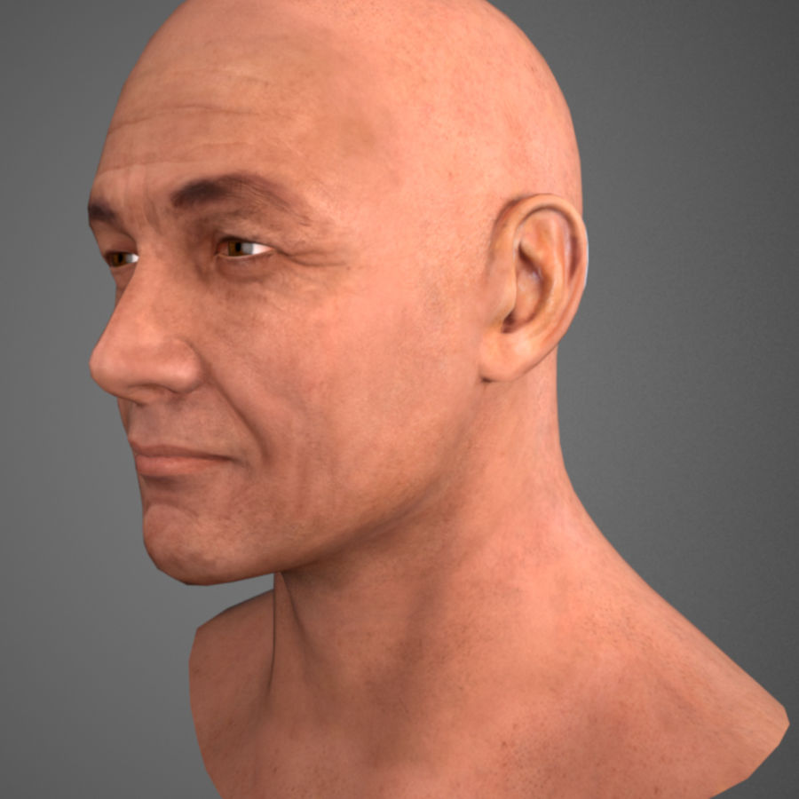 Cabeça masculina royalty-free 3d model - Preview no. 2