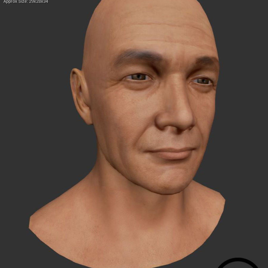 Cabeça masculina royalty-free 3d model - Preview no. 20