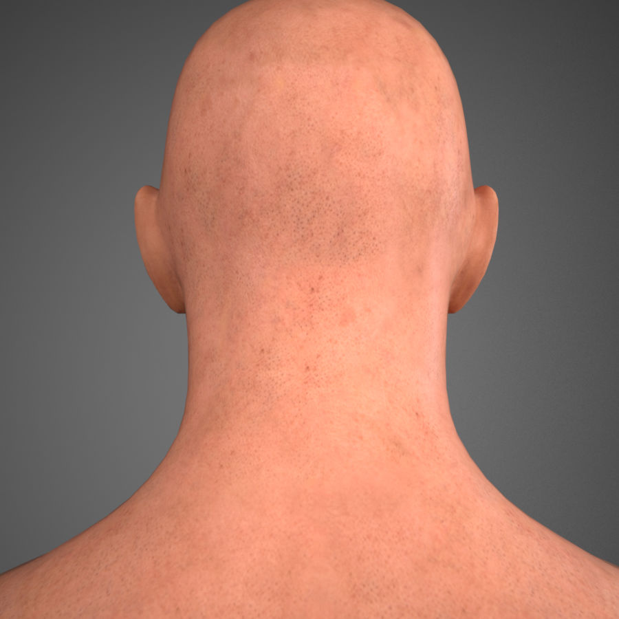 Cabeça masculina royalty-free 3d model - Preview no. 11