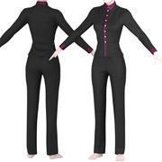 lady suit 3d model