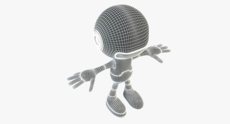 Cartoon Space Robot royalty-free 3d model - Preview no. 16