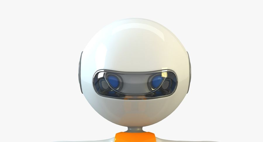 Cartoon Space Robot royalty-free 3d model - Preview no. 5
