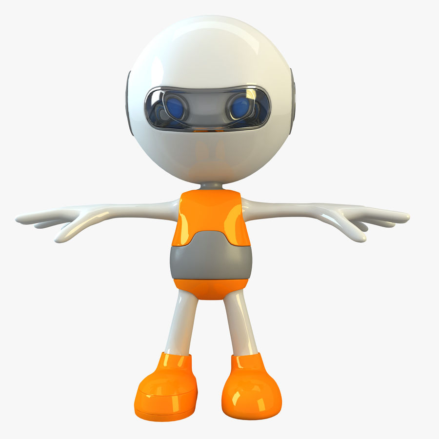 Cartoon Space Robot royalty-free 3d model - Preview no. 1