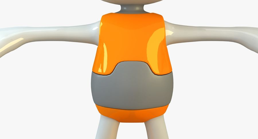 Cartoon Space Robot royalty-free 3d model - Preview no. 10