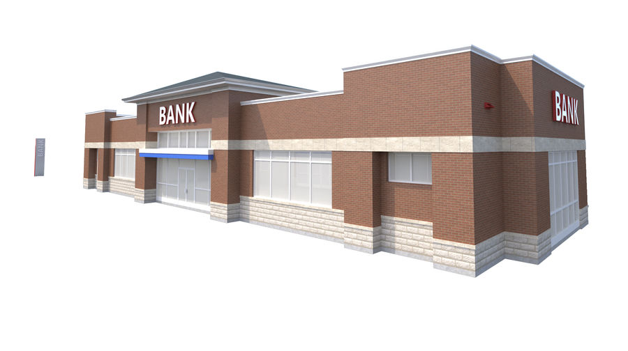 Банка royalty-free 3d model - Preview no. 2