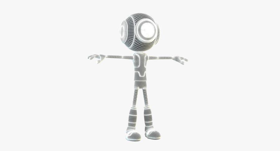 Alien Robot royalty-free 3d model - Preview no. 10