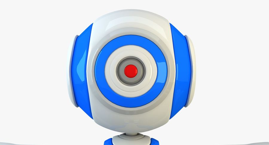Alien Robot royalty-free 3d model - Preview no. 5