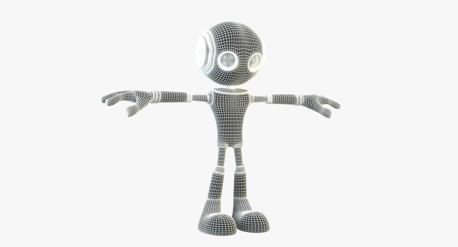 Alien Robot Character royalty-free 3d model - Preview no. 10