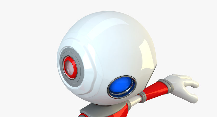 Alien Robot Character royalty-free 3d model - Preview no. 6