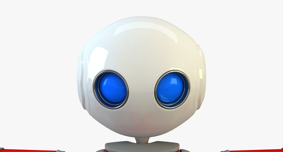 Alien Robot Character royalty-free 3d model - Preview no. 5