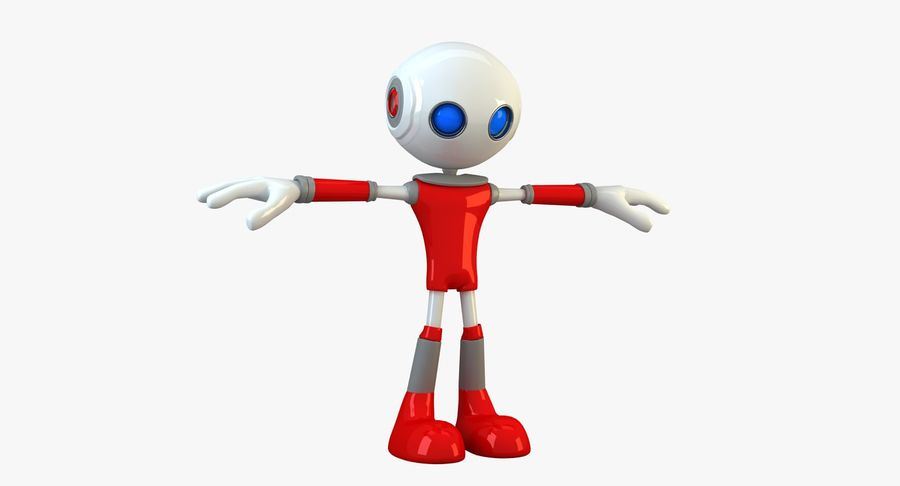 Alien Robot Character royalty-free 3d model - Preview no. 3
