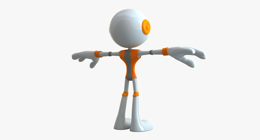 Alien Robot Character royalty-free 3d model - Preview no. 2