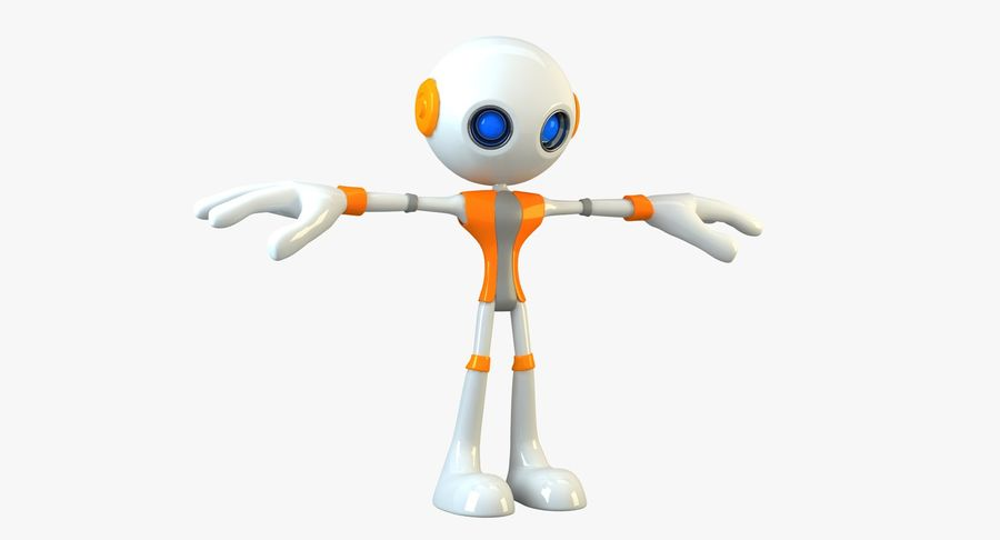 Alien Robot Character royalty-free 3d model - Preview no. 4