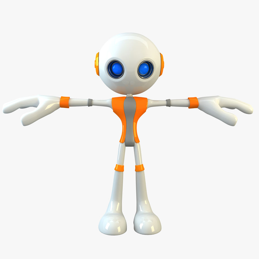 Alien Robot Character royalty-free 3d model - Preview no. 1