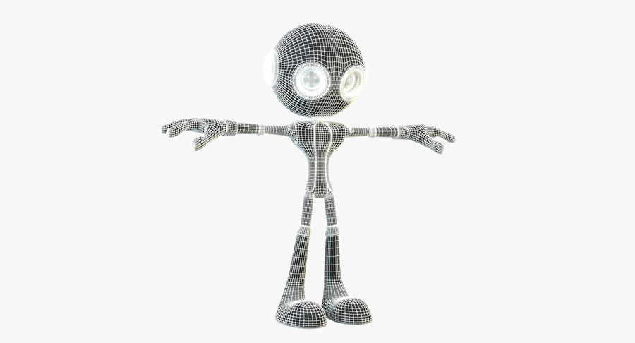 Alien Robot Character royalty-free 3d model - Preview no. 11