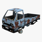 Old Suzuki Carry Truck 3d model