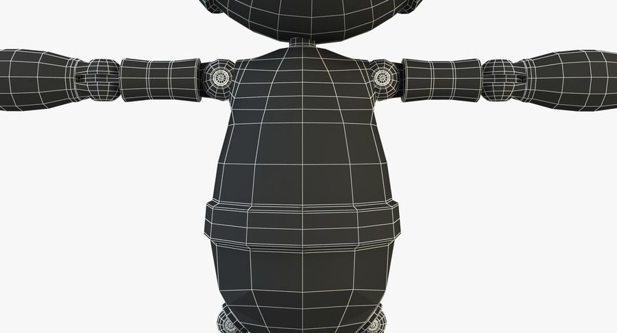 Robot Character royalty-free 3d model - Preview no. 14