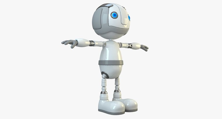 Robot Character royalty-free 3d model - Preview no. 11