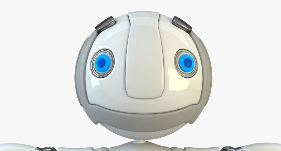 Robot Character royalty-free 3d model - Preview no. 4