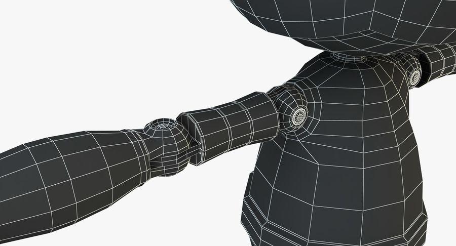 机器人角色 royalty-free 3d model - Preview no. 15