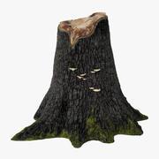木の切り株03 3d model