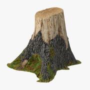 木の切り株02 3d model