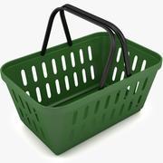 Compras de cesta de plástico 3d model