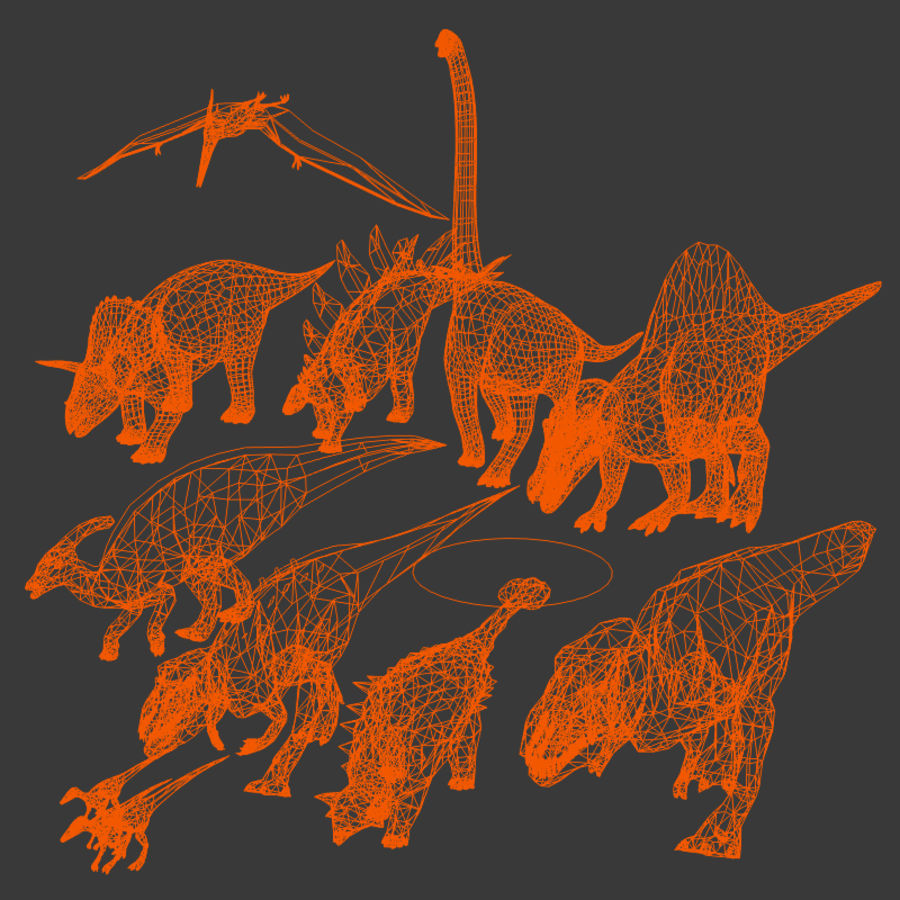 Dinosaur Pack royalty-free 3d model - Preview no. 5