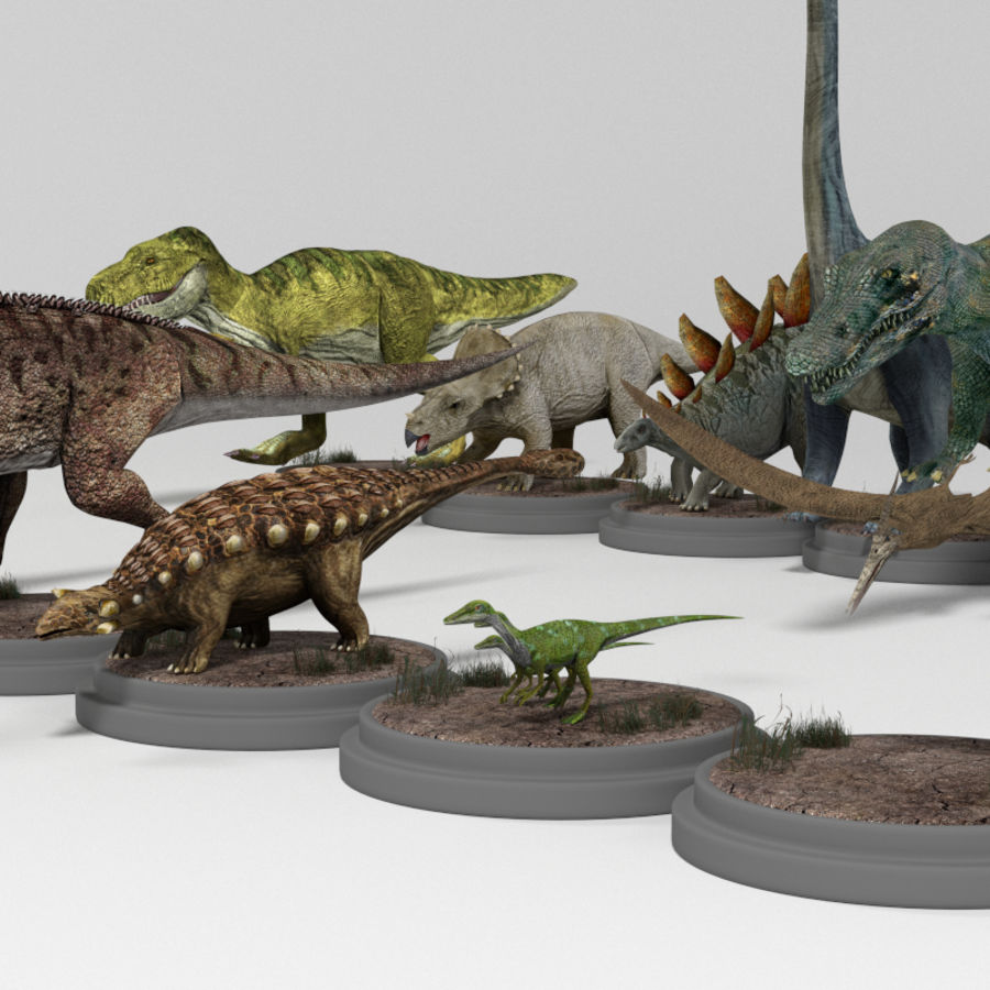 Dinosaur Pack royalty-free 3d model - Preview no. 17