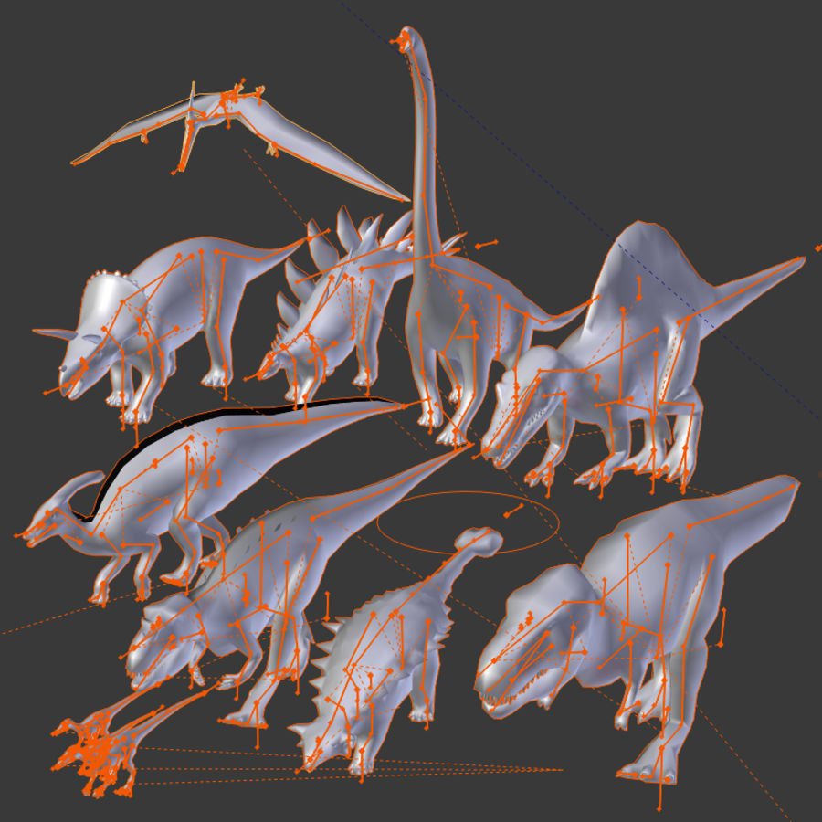 Dinosaur Pack royalty-free 3d model - Preview no. 3
