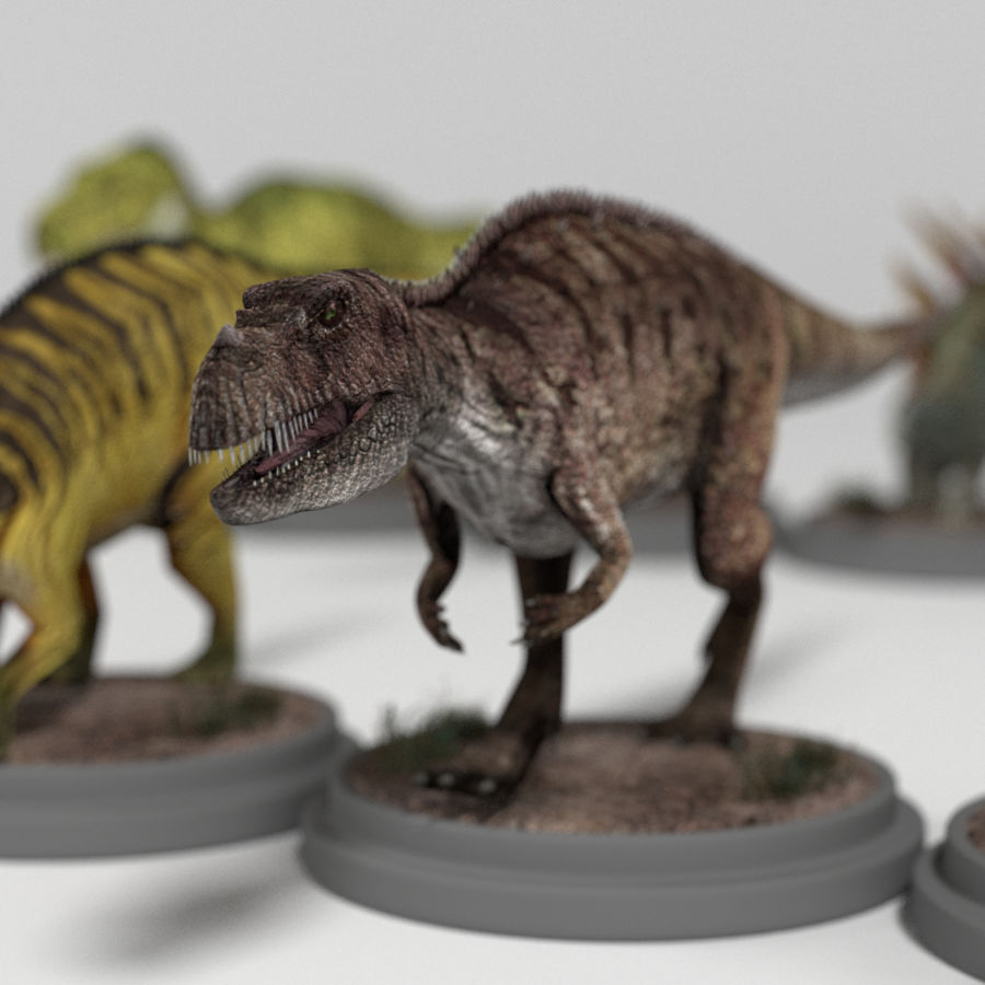 Dinosaur Pack royalty-free 3d model - Preview no. 18