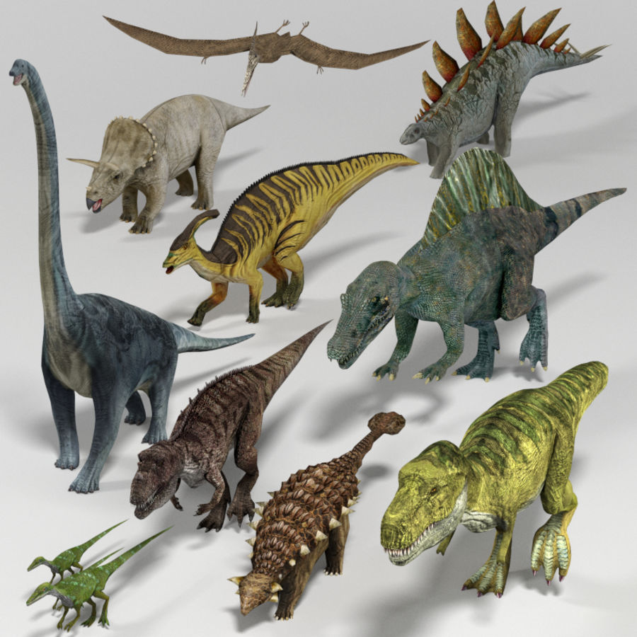 Dinosaur Pack royalty-free 3d model - Preview no. 1