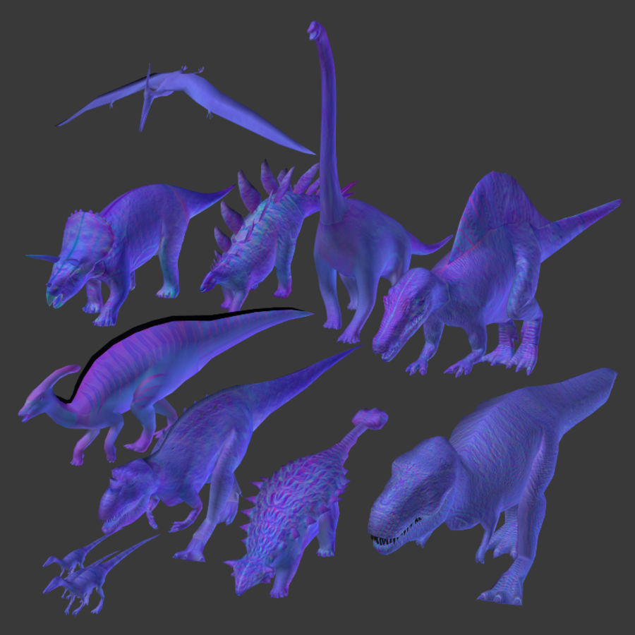 Dinosaur Pack royalty-free 3d model - Preview no. 4