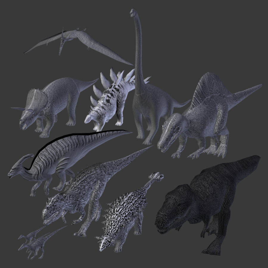 Dinosaur Pack royalty-free 3d model - Preview no. 6