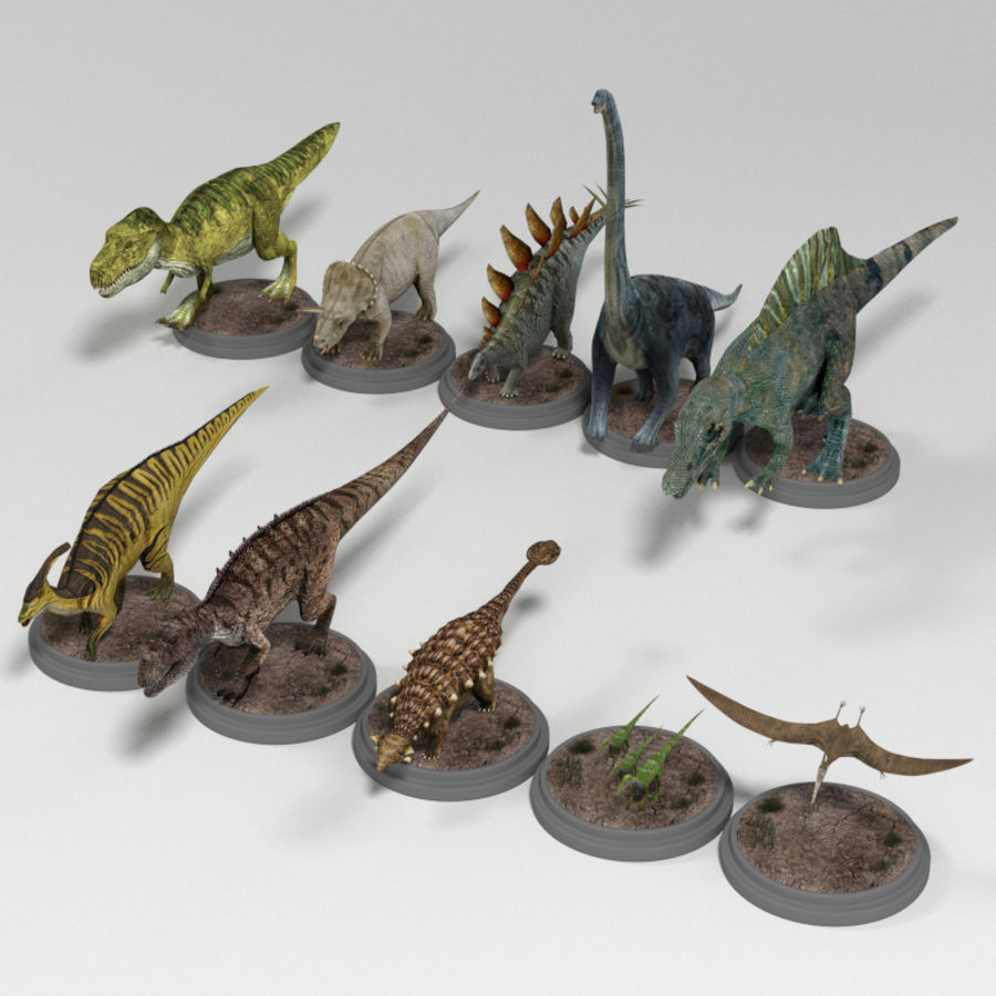 Dinosaur Pack royalty-free 3d model - Preview no. 2