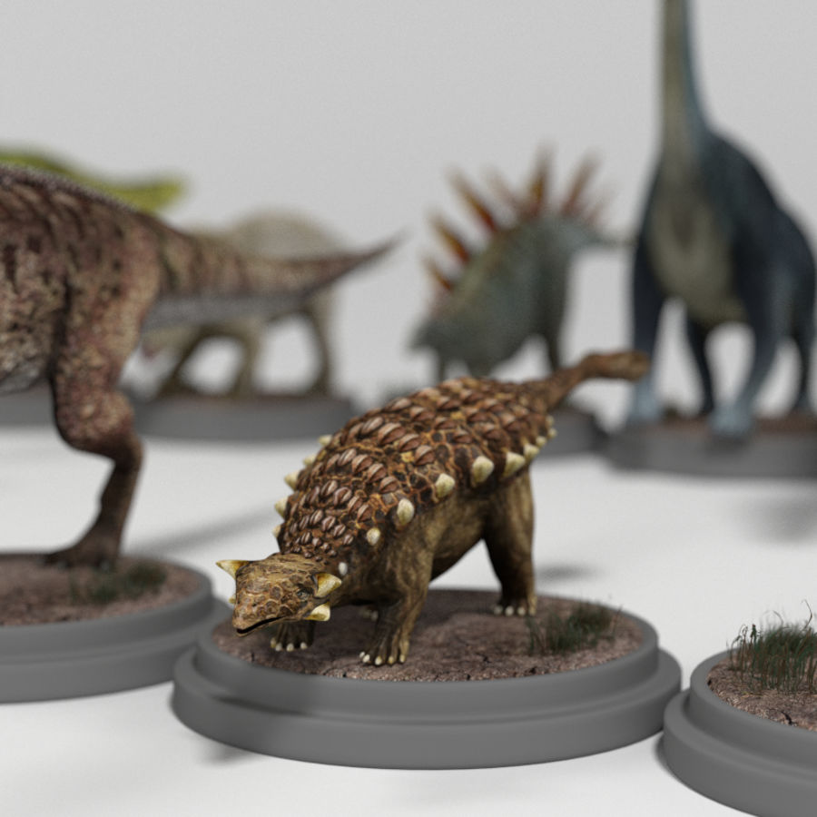 Dinosaur Pack royalty-free 3d model - Preview no. 20