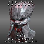 Mandíbulas abertas da cabeça do predador para Pepakura 3d model