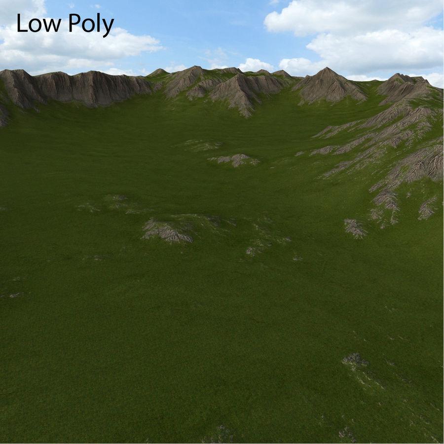 Mountain Landscape royalty-free 3d model - Preview no. 30