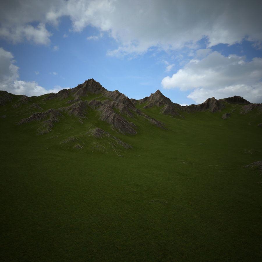 Mountain Landscape royalty-free 3d model - Preview no. 21