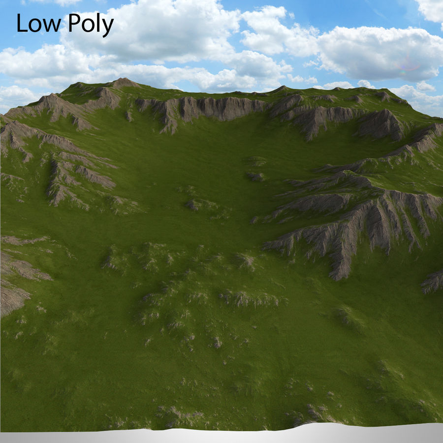 Berglandschaft royalty-free 3d model - Preview no. 32