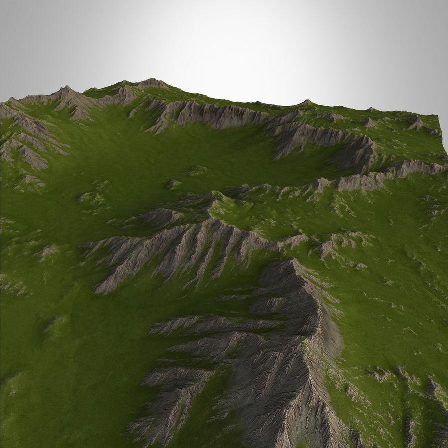 Mountain Landscape royalty-free 3d model - Preview no. 8